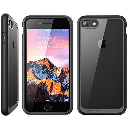 "Coque iPhone 7, Coque iPhone 8, Coque de protection transparente SUPCASE Unicorn Beetle Style Premium Hybrid pour iPhone 7 (4.7"") 2016 / iPhone 8 2017(noir)"