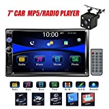 "Regetek Car Rear View Camera + Double Din 7"" Touchscreen In Dash Stereo"