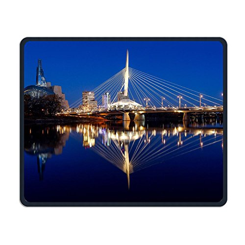Winnipeg Non-Slip Rubber Mouse Pad Stitched Edges 9.8