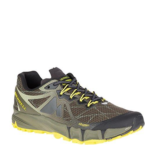 Merrell Men's Agility Peak Flex Trail Runner, Beluga/Olive, 7 M US (Wolverine Runner Trail)