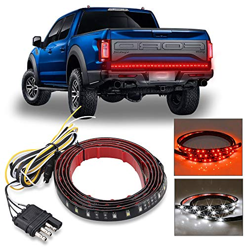 Carrep Universal Truck Tailgate Strip Light Bar Side Bed Light Strips 5 Function Waterproof Turn Signal, Parking, Reverse,Brake Lights (49 inches)