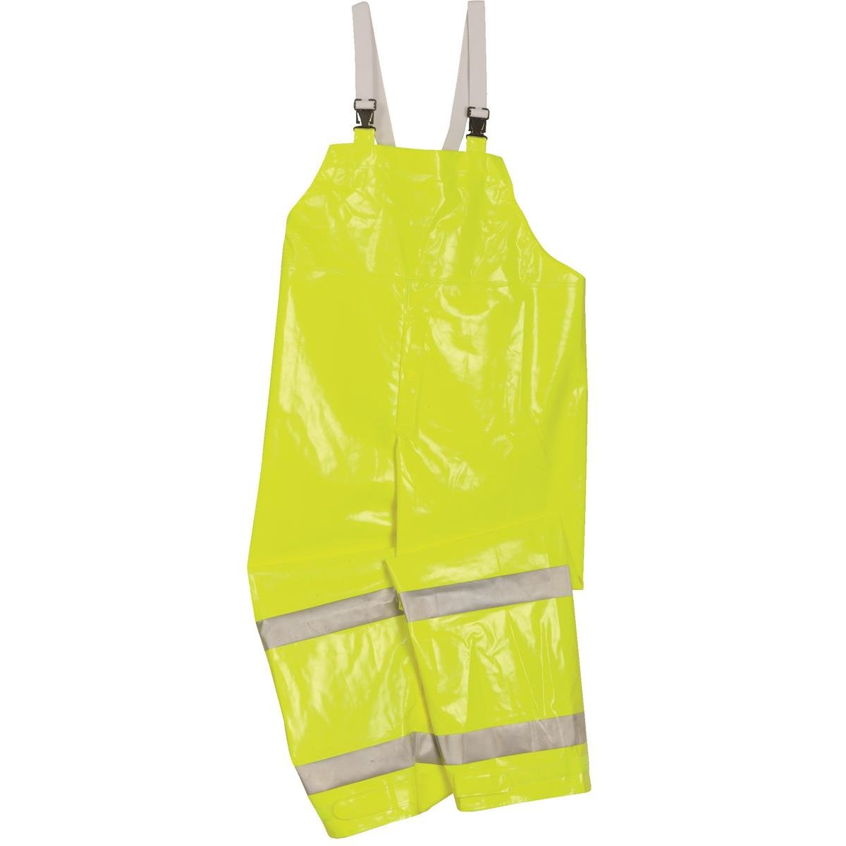 Brite Safety Style 5213 FR Safety Raingear | Hi Vis Rain Bib Overall | Waterproof | Flame Resistant | ANSI 107 Class E Compliant (Medium, Hi Vis Yellow) by Brite Safety (Image #1)