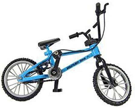 DDG EDMMS Características Bici del Dedo Nini Deportes de Montaña Bicicleta Mini Metal del Juego del Juguete para los niños Boy Blue 1PC: Amazon.es: Electrónica