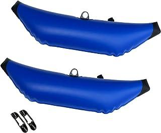 Homyl 2pcs Flotteur Stabilisateur en PVC Avec Pinces de Pagaies pour Kayak Canoë Bateaux Peche Outrigger Stabilizer Float
