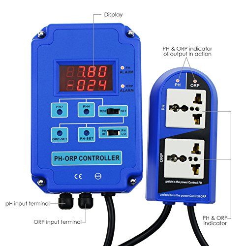 Digital pH ORP 2 in 1 Controller with Separate Relays for pH and ORP by Gain Express (Image #5)