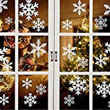 27 Reusable White Christmas Snowflakes Window Stickers SELF CLINGS Decorations