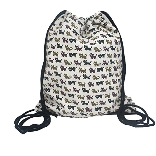 Artone Cats Canvas Drawstring Bag Travel Daypack Sports Portable Backpack Three (Days Iii Canvas)