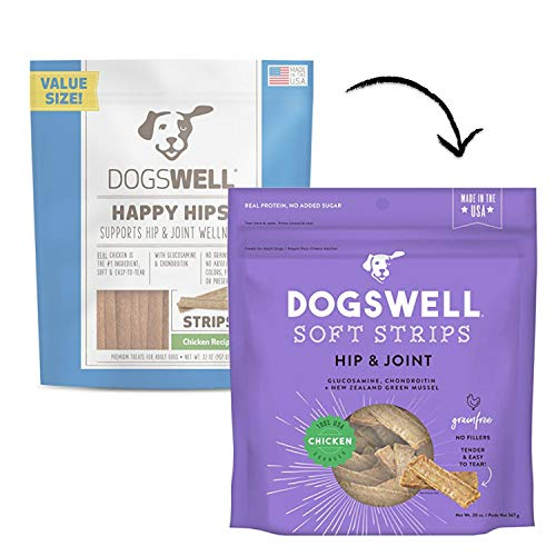 DOGSWELL Happy Hips Dog Treats, Chicken Flavor, 32 - Treats Hips Chicken Happy Dog