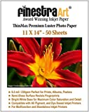 11x14 Premium Luster Inkjet Photo Paper - 50 Sheets 8.5mil