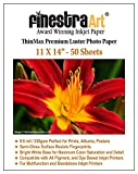 Finestra Art 11x14 Premium Luster Inkjet Photo Paper - 50 Sheets 8.5mil