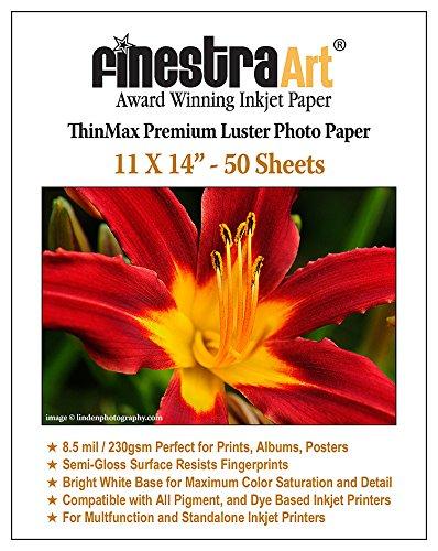 Finestra Art 11x14 Premium Luster Inkjet Photo Paper - 50 Sheets 8.5mil by Finestra Art