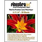 Finestra Art 11x14 Premium Luster Inkjet Photo Paper - 50 Sheets 8.5mil