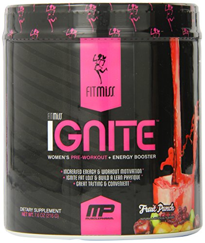 Fitmiss Ignite Pre-Workout Supplement, Fruit Punch, 7.6 oz.