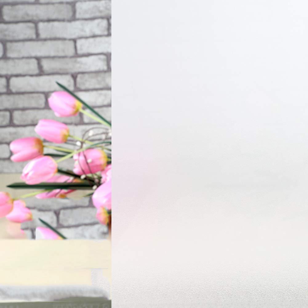 12x118inch Givr/é Aucune colle Collement /électrostatique Amovible Non-adh/ésifs maison Cuisine Bureau chambre /à coucher Salle de bains Priv/ée Verre Pellicule pour fen/êtres Autocollants A 30x300cm