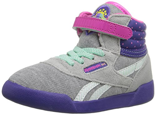 (Reebok Sofia Freestyle INF Classic Shoe (Infant/Toddler), Tin Grey/Team Purple/Dynamic Pink/Hint Mint, 6 M US Toddler)