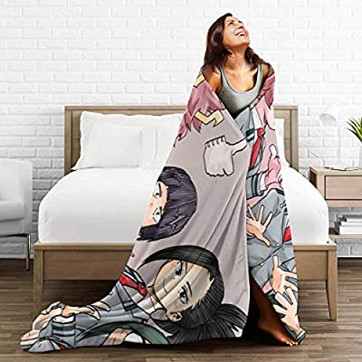 Wangfone Girls Group Photo Digital Printed Soft and Warm Micro Flannel Blanket for Office: Home & Kitchen