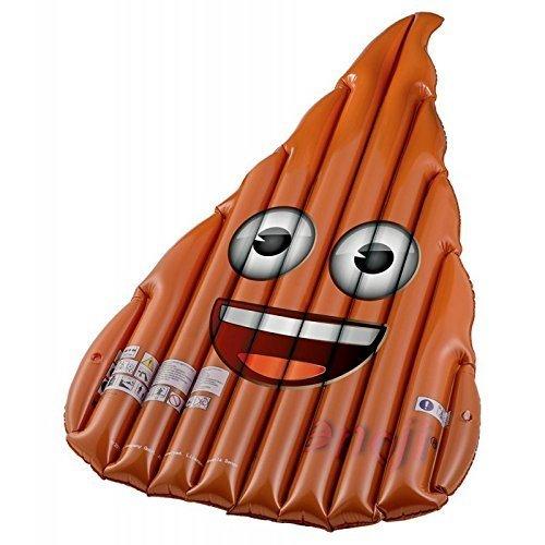Emoji emoticon gigante cacca galleggiante per mare e piscina mt strange things - Bagno sporco di cacca ...