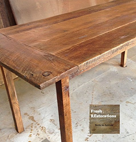 Farm Table, Reclaimed Wood Harvest Table