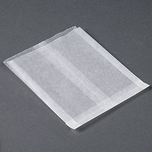 Glassine Waxed Paper Bag 6 x 7 x 3/4. Appx. 100/pack (Bags Paper Sandwich)