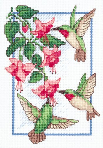 Dimensions Needlecrafts Counted Cross Stitch, Hummingbirds F