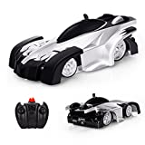 EpochAir Electric Wall Climber Climbing RC Car, Remote Control Car, Dual Mode 360°Rotating Stunt Car with Remote Control, Head and Rear LED Lights, USB Cable, Boy Kid Toys, Zero Gravity Car for Kids