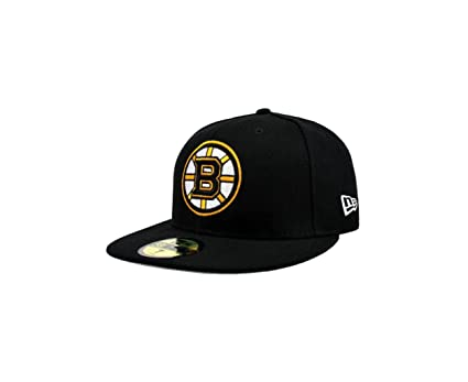the latest 9008a 270f7 New Era 59fifty NHL Boston Bruins Hat Primary Black Cap (6 7 8)