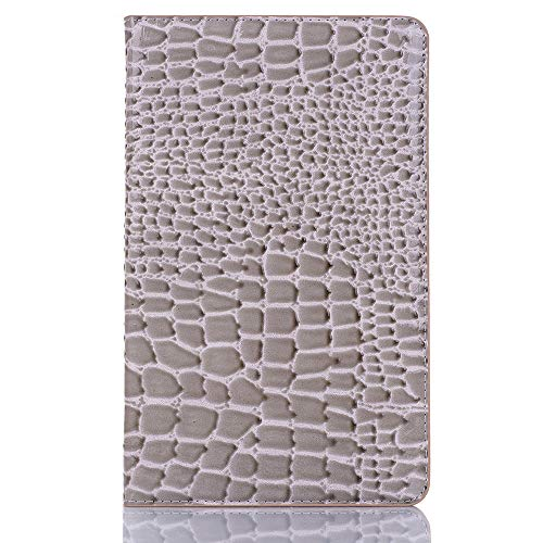 TechCode Tab A 8.0 Galaxy 2019 Case, Lightweight Premium PU Leather Slim Folio Stand Cover Shell Auto Sleep/Wake Protector Case with Card Slots for Samsung Tab A 8.0 P200/P205 Table 2019,Grey
