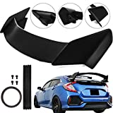 Mophorn Rear Trunk Spoiler Wing For 2016-2018 Honda Civic 5Dr Hatchback Type-R Style ABS Plastic Black Rear Spoiler Wing Trunk Spoiler 2016 2017 2018