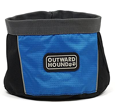 Outward Hound Port A Bowl Collapsible Travel Dog Food Bowl Water Bowl