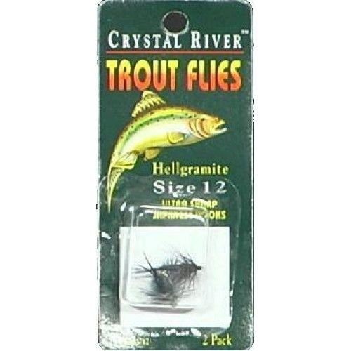Crystal River Trout Flies Hellgramite Size 12 - Sinks Fast & Prevents Snagging/e