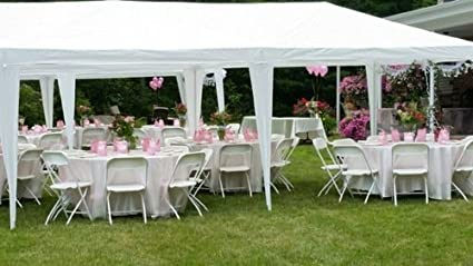 amazoncom peaktop heavy duty outdoor party wedding tent canopy gazebo storage shelter pavilion garden u0026 outdoor