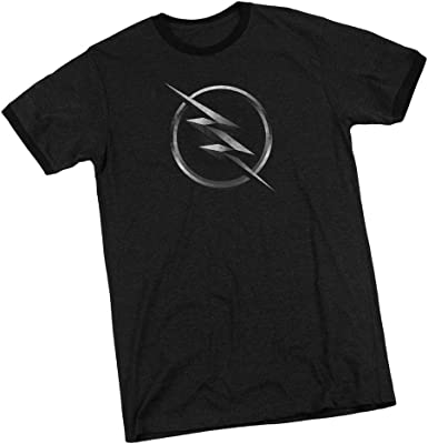 Amazon Com Cw The Flash Tv Show Zoom Logo Adult Ringer T Shirt