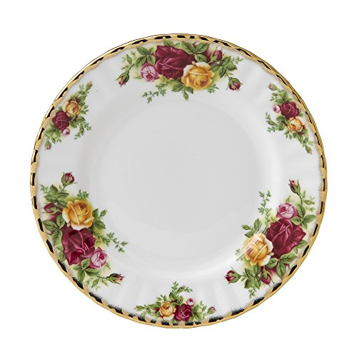 Old China Plates - Royal Albert Old Country Roses Tea Plate 18cm
