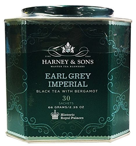 (Harney & Sons Earl Grey Imperial Tea Tin - Fine Black Tea with Natural Bergamot - 2.35 Ounces, 30 Sachets)