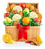 GiftTree Fresh Fruit and Gourmet Cookies Gift Basket - Premium Fresh Pears,Apples & Juicy Oranges with Fresh Cookies