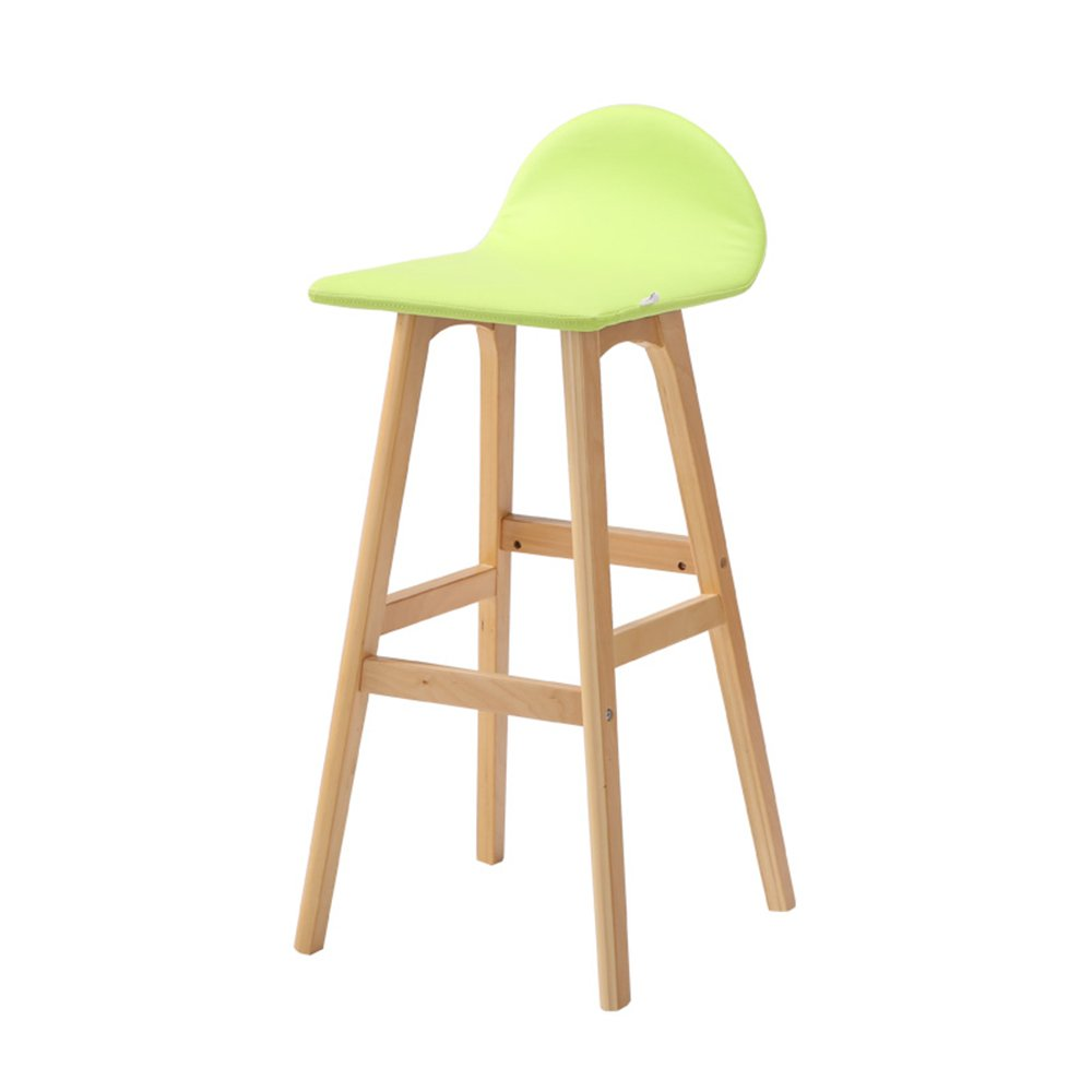 ソリッドウッドのバーの椅子、フロントデスクバー、創造的な椅子、ヨーロピアンスタイルのバーの椅子、シンプルなハイスツール ( 色 : 緑 ) B07BGZV34M 緑 緑