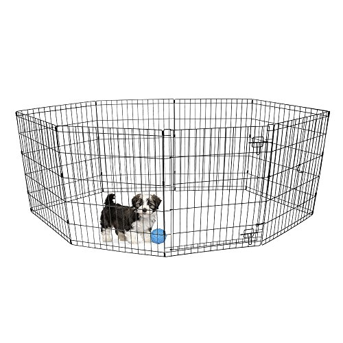 BV Pet 30'H Foldable Exercise Pen / Dog Playpen, 8 Panels with Single Door