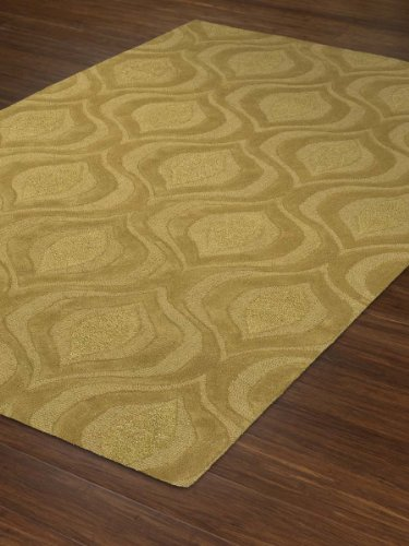 Modern Designer Area Rug 8-Feet by 10-Feet Lime Wool Carpet
