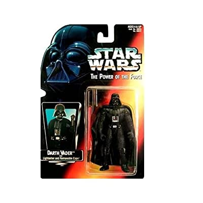 Star Wars Power of the Force Darth Vader with Lightsaber and Removable Cape