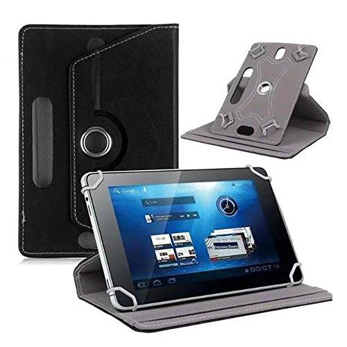 YUYDYU 36 Grad drehbare Hülle Kompatibel mit 1 Zoll Tablet PU Leder Schutzhülle für Tablet mit Standfunktion