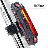 Ownsig Impermeable del USB de la Bicicleta luz Trasera LED Recargable Seguridad de la Bicicleta Luz de Advertencia de MTB Luz Trasera