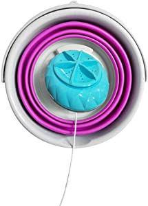 N/L Mini Washing Machine with Foldable Tub Portable Personal Rotating Ultrasonic Turbines Washer USB Convenient Laundry for Camping Apartments Dorms RV Business Trip - 1 Kg Load