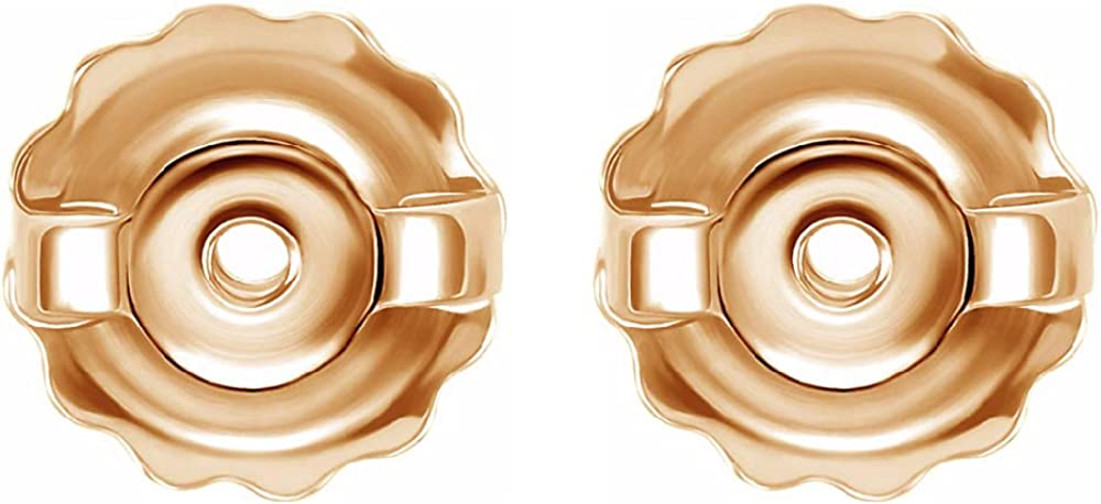"""Earrings backs replacements 14K Gold by Glitz Design Threaded Posts Large 0.034"""" - Screw backs"""