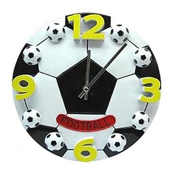 TOOGOO Reloj de pared en forma Creativa de futbol de Copa Mundial para el dormitorio Relojes