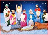 12pc Lighted Nativity Outdoor Décor