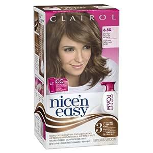 Clairol Nice 'n Easy Foam Hair Color 6.5G Lightest Golden Brown 1 Kit (packaging may vary)