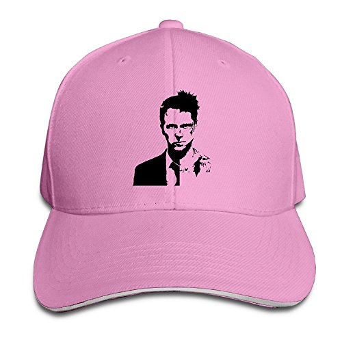 PTCY Cool Pitt Movie Star Design Sandwich Peak Baseball Hat Adjustable Hat (Steve Kerr Halloween)