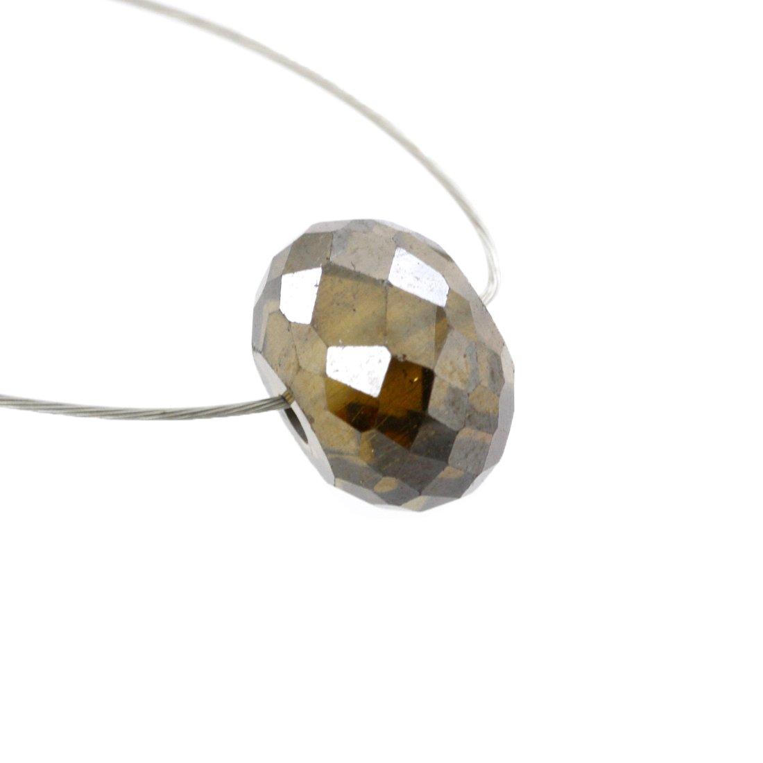 Skyjewels 3.40 Carat 8 mm Loose Certified Champagne Diamond Bead