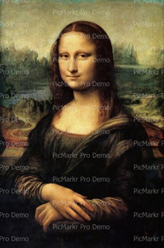 1/8 Sheet - Da Vinci Mona Lisa - Edible Cake/Cupcake Party Topper!!! ()