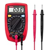 ORIA Digital Multimeter, (AC/DC Voltage, IEC 61010) Auto Ranging Multi Tester with Voltage, Current, Resistance, Diode, Continuity Test, with Test Leads and Large Backlit LCD Screen. Battery Included